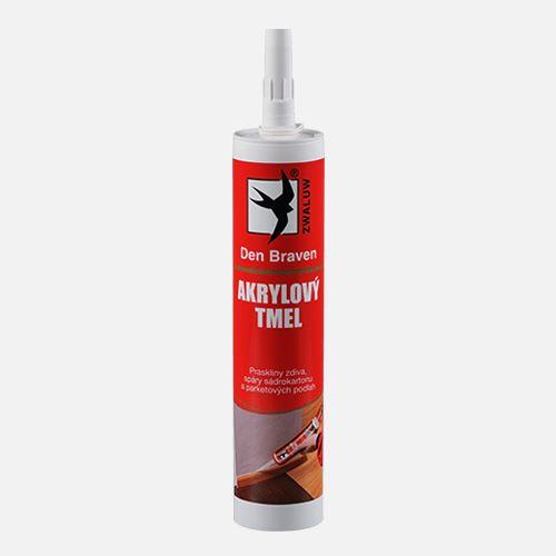 Akrylový tmel Den Braven, kartuše 310 ml, bílá
