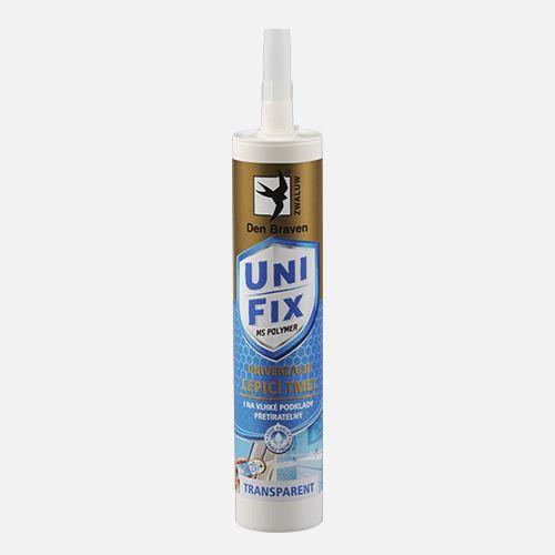 Lepidlo MS UNIFIX CLEAR na všechna tmelení Den Braven, kartuše 290 ml, transparentní