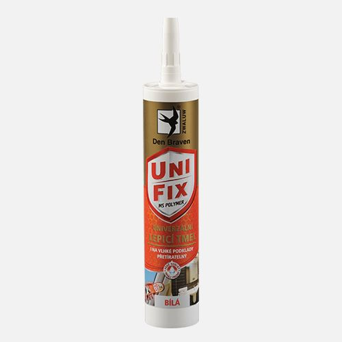 Lepidlo MS UNIFIX na všechna tmelení a lepení, kartuše 290 ml, bílá