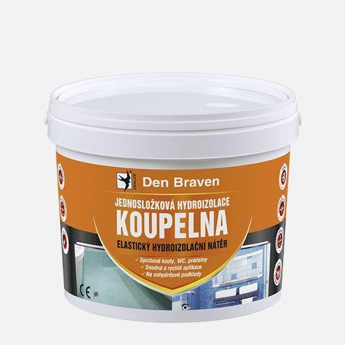 Jednosložková hydroizolace KOUPELNA, kbelík 2,5 kg, medově hnědá Den Braven