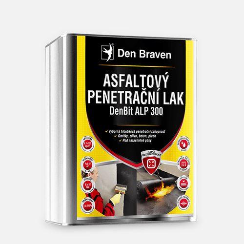 Asfaltový penetrační lak DenBit ALP 300 Den Braven , plechový kanystr 9 kg, černý