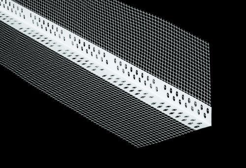 Lišta rohová PVC s tkaninou 10/10 cm  2500 mm