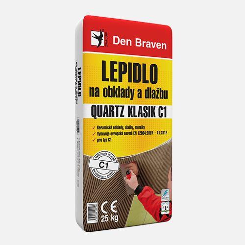Lepidlo na obklady a dlažbu QUARTZ KLASIK C1 Den Braven, pytel 25 kg