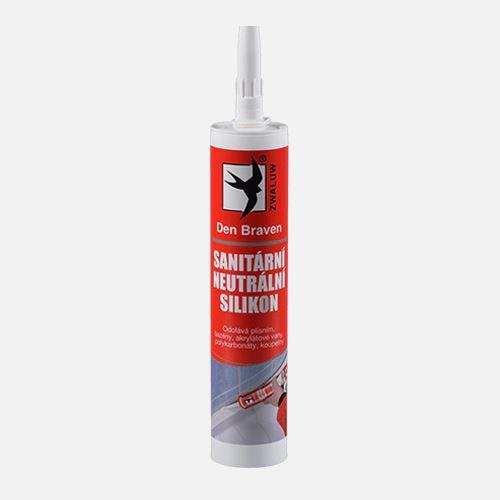 Sanitární neutrální silikon OXIM Den Braven, kartuše 280 ml, transparentní