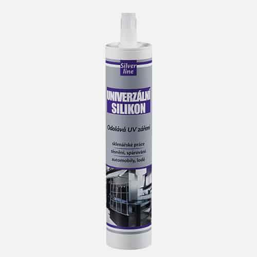 Univerzální silikon Silver line Den Braven, kartuše 310 ml, bílý