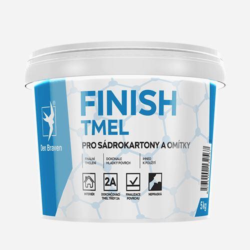 Finish tmel na sádrokartony Den Braven, kbelík 5 kg, bílý