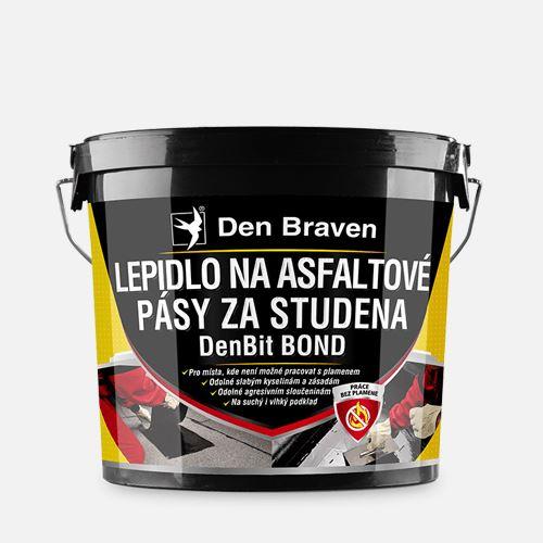 Lepidlo na asfaltové pásy za studena DenBit BOND Den Braven, kbelík 10 kg, černé